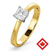 Lauren 18K Gold Canadian Diamond Engagement Ring 0.50CT G/VS1