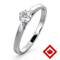 Low Set Chloe Platinum Canadian Diamond Engagement Ring 0.30CT G/VS2