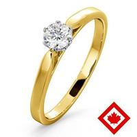 Low Set Chloe 18K Gold Canadian Diamond Engagement Ring 0.30CT G/VS1