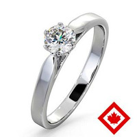 Low Set Chloe Platinum Canadian Diamond Engagement Ring 0.50CT H/SI2