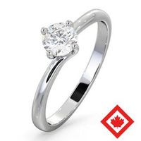 Lily 18K White Gold Canadian Diamond Engagement Ring 0.50CT G/VS2