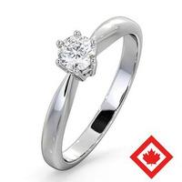 High Set Chloe Platinum Canadian Diamond Engagement Ring 0.30CT G/VS2