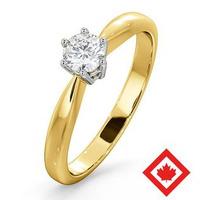 High Set Chloe 18K Gold Canadian Diamond Engagement Ring 0.30CT H/SI1