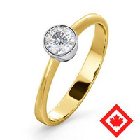 Canadian Diamond Engagement Ring - Emily 0.30CT H/SI1 - 18K Gold