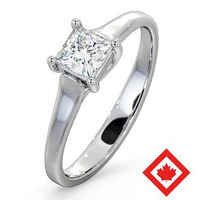 Lucy 18K White Gold Canadian Diamond Engagement Ring 0.50CT G/VS1