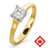 Lucy 18K Gold Canadian Diamond Engagement Ring 0.50CT H/SI1