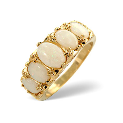 Opal 1.29CT 9K Yellow Gold Ring