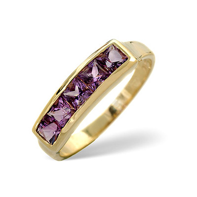 Amethyst 0.70ct 9K Gold Ring