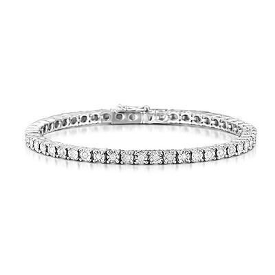 Silver Diamond Set 1.00ct Tennis Bracelet