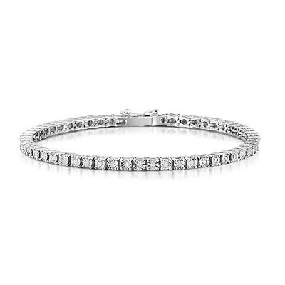 Silver Diamond Set 0.57ct Tennis Bracelet