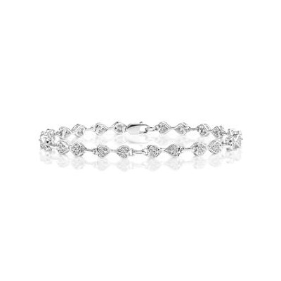0.25ct Diamond Heart Bracelet Set In Silver