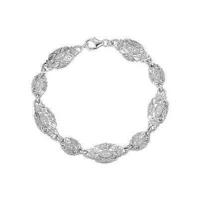 Diamond and Silver Vintage Bracelet - UD3255