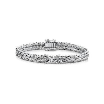 Allura Collection Twisted Diamond Bangle 0.02ct in 925 Silver