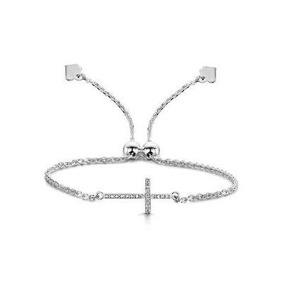 Allura Collection Cross Diamond Bracelet 0.05ct in 925 Silver