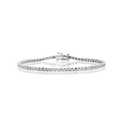 Silver Diamond Set 0.60ct Tennis Bracelet