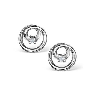 Diamond Circles Earrings in Sterling Silver - Ug3242