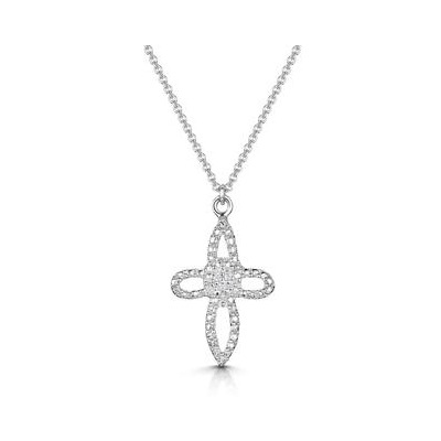Allura Collection Diamond Cross Necklace in 925 Silver