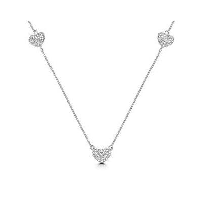 Allura Collection Heart Diamond Necklace in 925 Silver