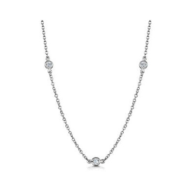 White Topaz Tesoro Collection Necklace in 925 Silver - UP3241