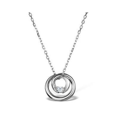 Diamond Loop Necklace in Sterling Silver - UR3233