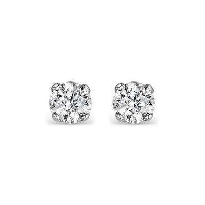 Diamond Earrings 0.50CT Studs H/SI Quality in Platinum - 4.1mm