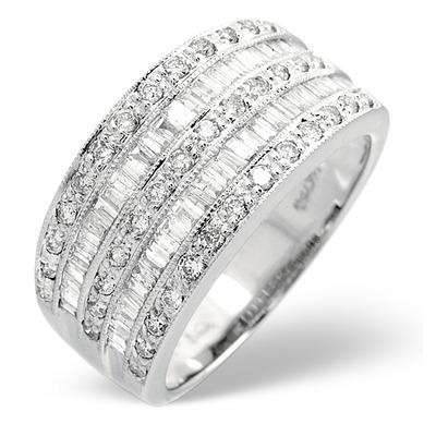 Platinum Wide Ring 1 Carat Diamond H/Si