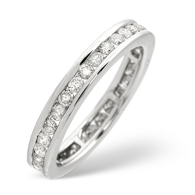 9K White Gold Diamond Eternity Ring 0.91CT