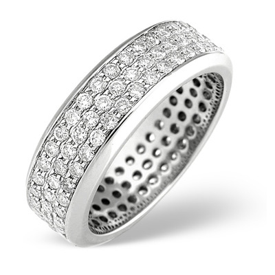 18K White Gold Brilliant Cut Diamond Eternity Ring 1.30CT