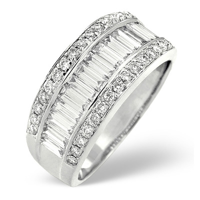 18K White Gold Diamond Ring 1.50ct H/si