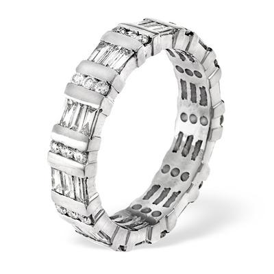 Eternity Ring Mia Platinum Diamond 1.50ct H/Si