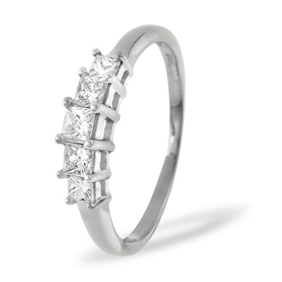 0.50ct G/vs Diamond and Platinum Ring -  FT29-72XUS