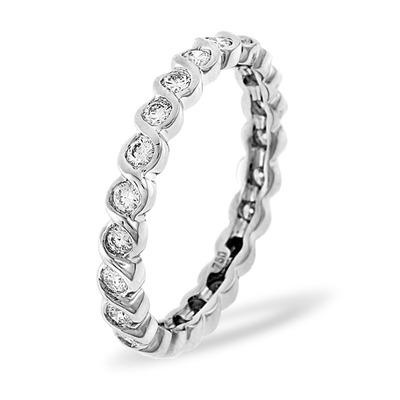 Eternity Ring Kiera Platinum Diamond 1.00ct H/Si