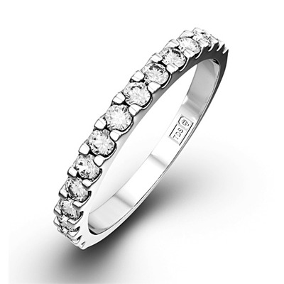 15 STONE CHLOE 18K White Gold DIAMOND ETERNITY RING 0.50CT H/SI
