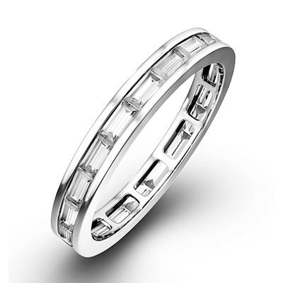 Eternity Ring Lily Platinum Diamond 1.00ct H/Si