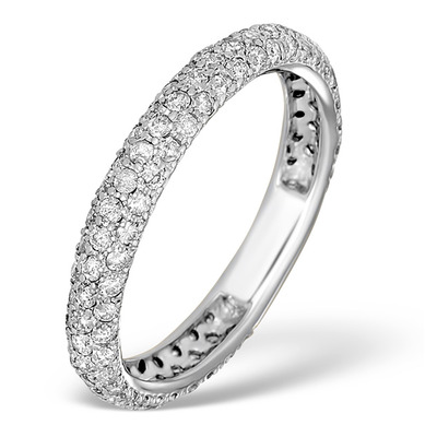 9K White Gold Diamond Full Eternity Ring 1.00ct - E5213