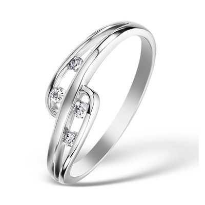 0.10ct Diamond and 9K White Gold Ring -  E5810