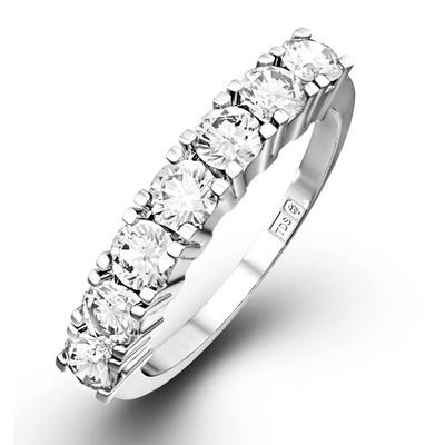 Chloe Platinum 7 Stone Diamond Eternity Ring 1.00CT H/SI