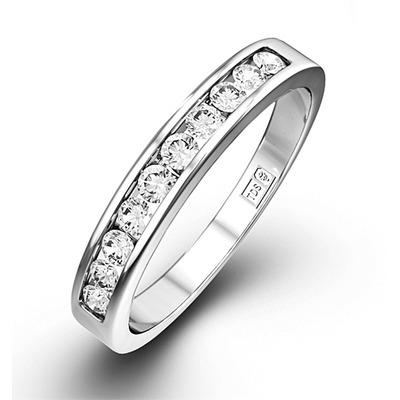 Rae Platinum Diamond Half Band Eternity Ring 0.25CT H/SI