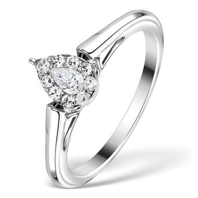 0.25ct Diamond and 18K White Gold Galileo Ring FT68