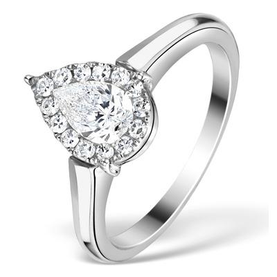 1ct Diamond and 18K White Gold Galileo Ring FT69