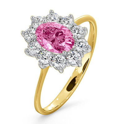 18K Gold 0.50CT Diamond and 1.05CT Pink Sapphire Ring