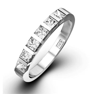 OLIVIA PLATINUM Diamond ETERNITY RING 0.50CT G/VS