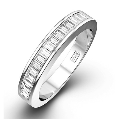 GRACE 18K White Gold Diamond ETERNITY RING 0.50CT H/SI