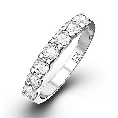 CHLOE 18K White Gold Diamond ETERNITY RING 0.50CT G/VS