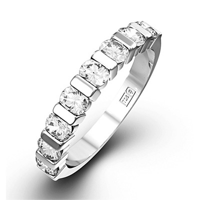 HANNAH 18K White Gold Diamond ETERNITY RING 0.50CT H/SI
