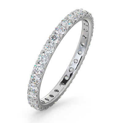 Eternity Ring Erin 18K White Gold Diamond 1.00ct H/Si