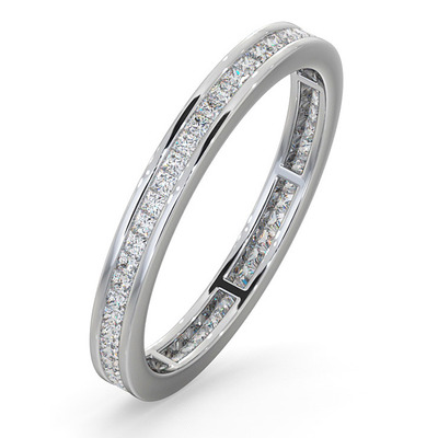 Eternity Ring Lauren 18K White Gold Diamond 0.50ct H/Si