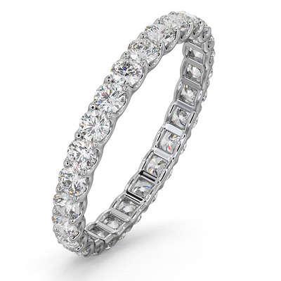 Eternity Ring Chloe 18K White Gold Diamond 1.00ct H/Si