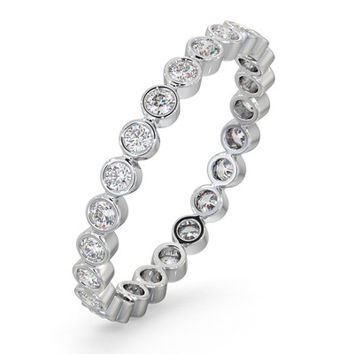 Eternity Ring Emily 18K White Gold Diamond 0.50ct H/Si