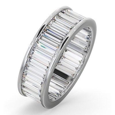 Eternity Ring Grace Platinum Diamond 5.00ct G/Vs